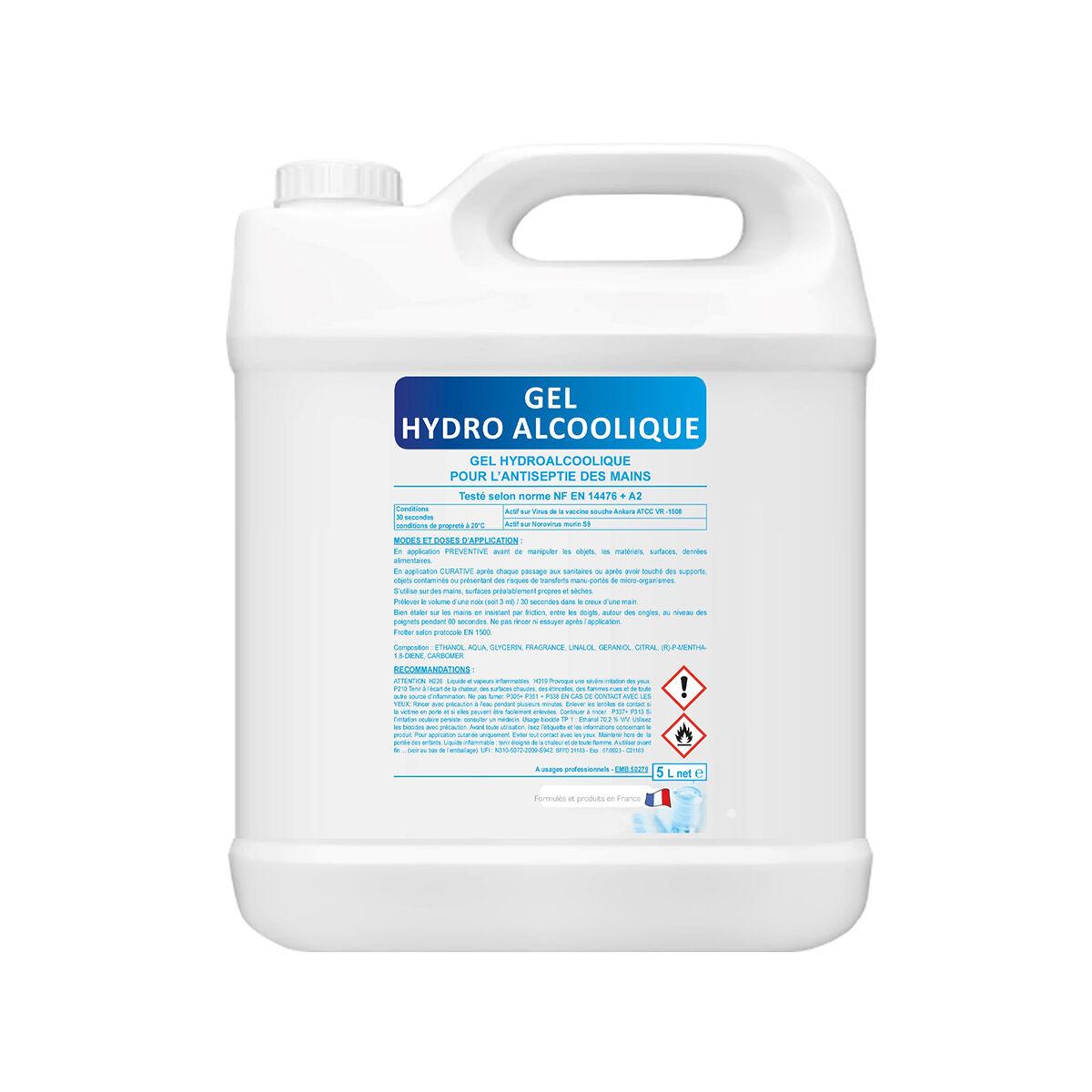 Axess Industries Bidon de 5 L de gel hydroalcoolique