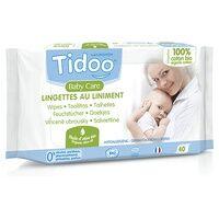 Tidoo Lingettes au liniment à l'huile d'olive bio 40 unités - Tidoo