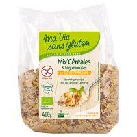 Ma Vie sans Gluten Mix céréales & légumineuses au riz de camargue BIO 400 g - Ma Vie sans Gluten