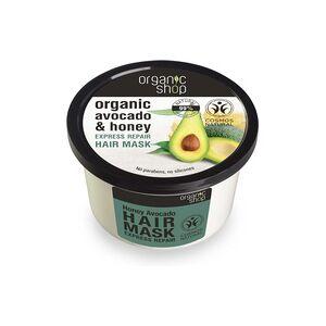 Organic Shop 3 x Masque réparateur Express Honey Avocado 250 ml - Organic Shop - Publicité
