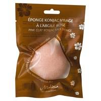 Beliflor Eponge konjac naturelle visage à l'argile rose 1 unité (Rose) - Beliflor