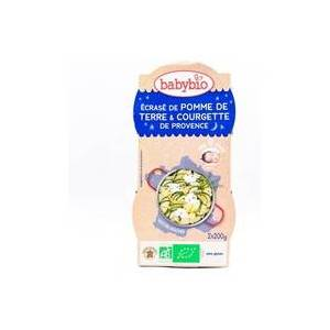 Babybio Bonne Nuit Pomme de terre Courgette de Provence Parmesan 2 unités de 200g - Babybio - Publicité