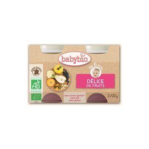 Babybio Petits Pots Délice de Fruits Bio - dès 6 mois 2 unités de 130mg - Babybio - Publicité
