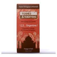 Tisanes & Traditions 1,2,3 Gingembres ! boite recharge 20 sachets - Tisanes & Traditions
