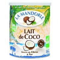 "La Mandorle Lait de coco ""fleur de coco"" Bio 400 g de poudre - La Mandorle"