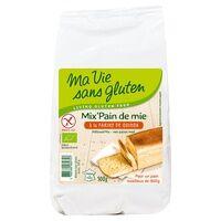 Ma Vie sans Gluten Mix' pain de mie farine de quinoa BIO 500 g - Ma Vie sans Gluten