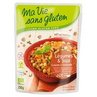 Ma Vie sans Gluten Légumes & soja, cuisinés à l'orientale BIO 250 g - Ma Vie sans Gluten