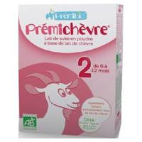 Prémibio Prémichèvre, lait en poudre 2ème âge 6-12 mois 600 g de poudre - Prémibio