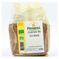 Primeal Graine de lin doré 250 g - Primeal