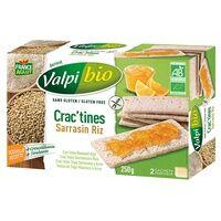 Valpibio Crac'tine Sarrasin - Riz Bio 6 unités - Valpibio