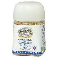 Provence d'Antan Gros sel de Camargue aux herbes bio pot végétal biodégradable 90 g - Provence d'Antan