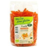 Ma Vie sans Gluten Fusilli lentilles corail BIO 250 g - Ma Vie sans Gluten