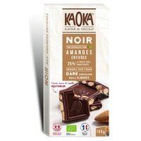 Kaoka Tablette Chocolat Noir Amandes Entières 180 g - Kaoka