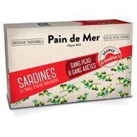 Accent Bio Filets de sardines sans peau ni arêtes à l'huile d'olive biologique 120 g - Accent Bio