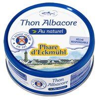 Phare d'Eckmühl Thon Albacore au naturel à teneur réduite en sel 160 g - Phare d'Eckmühl