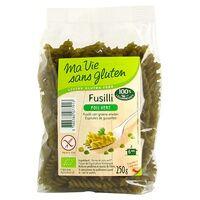 Ma Vie sans Gluten Fusilli pois vert BIO 250 g - Ma Vie sans Gluten