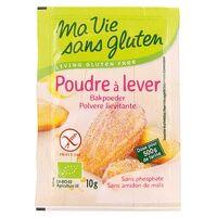 Ma Vie sans Gluten Poudre à lever BIO 10 g de poudre - Ma Vie sans Gluten