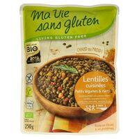 Ma Vie sans Gluten Lentilles cuisinées, petits légumes & curry BIO 250 g - Ma Vie sans Gluten