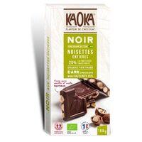 Kaoka Tablette Chocolat Noir Noisettes Entières 180 g - Kaoka