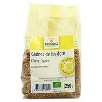 Primeal Graine de lin doré France 250 g - Primeal