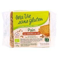 Ma Vie sans Gluten Pain aux graines de Lin BIO 7 unités - Ma Vie sans Gluten