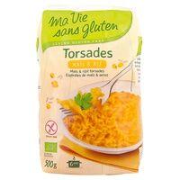 Ma Vie sans Gluten Torsades maïs riz Bio 500 g - Ma Vie sans Gluten