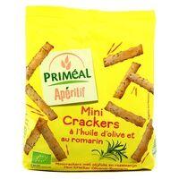 Primeal Mini crackers à l'huile d'olive et au romarin 100 g - Primeal