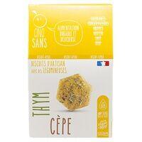 CINQ SANS Biscuits Apéro Cèpes et Thym bio 100 g - CINQ SANS