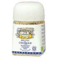 Provence d'Antan Sel Fin de Camargue Romarin Citron pot végétal biodégradable 80 g de poudre - Provence d'Antan