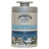 Provence d'Antan Gros sel de Camargue aux herbes bio Boîte métal 90 g - Provence d'Antan
