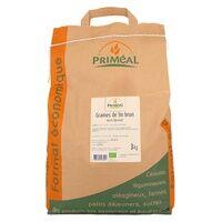 Primeal Graine de lin brun 3 kg - Primeal