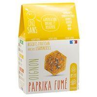 CINQ SANS Biscuits Apéro Oignons Paprika bio 100 g - CINQ SANS
