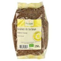 Primeal Graine de lin brun France 250 g - Primeal