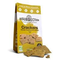 Résurrection Crackers bio aux drêches de brasserie Sarrasin et Courges 100 g - Résurrection