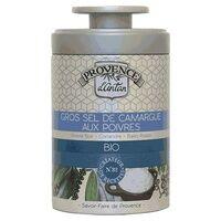 Provence d'Antan Gros sel de camargue aux poivres bio boite métal 90 g - Provence d'Antan