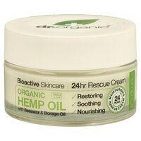 Dr. Organic Crème rescue 24h à l'huile de chanvre organique 50 ml de crème - Dr. Organic