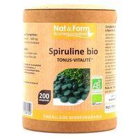 Nat & Form Spiruline Bio 200 tablettes - Nat & Form