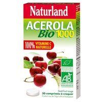 Naturland Acérola 1000 Bio 30 tablettes masticables - Naturland