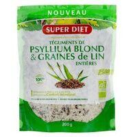 Super Diet Psyllium + Graines de Lin Bio 200 g - Super Diet