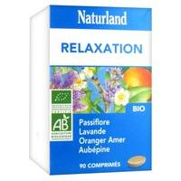 Naturland Passiflore Lavande Oranger Aubépine Bio 90 tablettes de 650mg - Naturland
