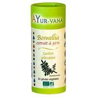Ayur-Vana Boswellia extrait 30% d'acides Boswelliques BIO 60 capsules - Ayur-Vana