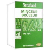 Naturland Thé Vert Bio 90 tablettes de 1033mg - Naturland