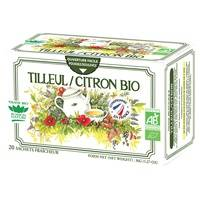 Romon Nature Tisane simple BIO Tilleul / Citron 20 sachets infuseurs - Romon Nature