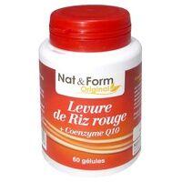 Nat & Form Levure de Riz rouge + coenzyme Q10 60 capsules de 660mg - Nat & Form