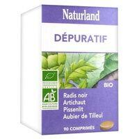 Naturland Aubier de Tilleul, Radis noir, Pissenlit, Artichaut 90 tablettes - Naturland