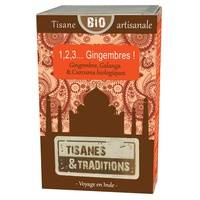 Tisanes & Traditions 1,2,3...Gingembres ! BIO 30 sachets infuseurs - Tisanes & Traditions