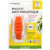 arkopharma arko essentiel bracelet anti-moustique adulte orange