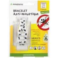 arkopharma arko essentiel bracelet anti-moustique enfant noir/blanc