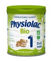 physiolac lait bio 1er age