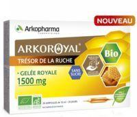 arkopharma arkoroyal gelée royale bio sans sucre 1500mg solution buvable 20 ampoules/10ml